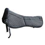 Quilted/Fleece Saddle Fitting Half Pad with Adjustable Shims