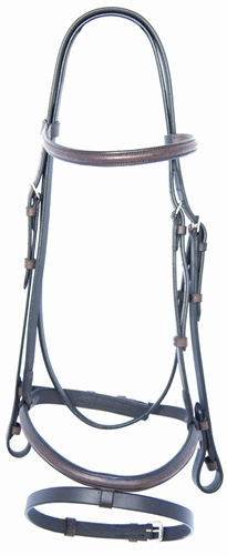 ProTrainer Raised, Self Padded, Snaffle Bridle