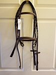 Pro-Trainer Raised, Self Padded, Snaffle Bridle - Cob