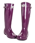 Rockfish Orignal Tall Wellington Boots - Gloss, Adjustable Calf