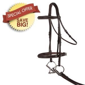 Comfort Plus Fancy Raised Hunter Bridle