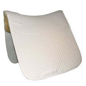 Quilted Dressage Pad with Genuine Australian Shearling