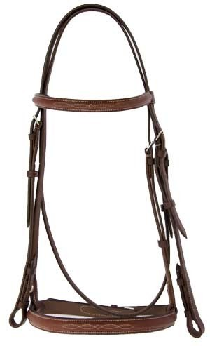 Thornhill ProAm Raised Snaffle Bridle with Fancy Stitching