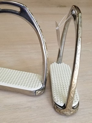Engraved German Silver Overlay/Stainless Steel Fillis Irons